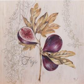 Carte d'art branche de figues Stephania Ferri