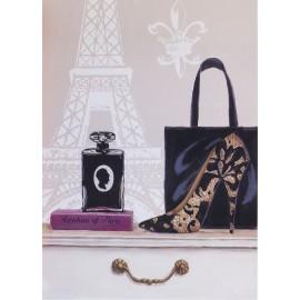 Carte d'art shabby chic Paris fabulous