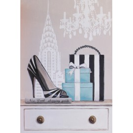 Carte d'art shabby chic New York fabulous
