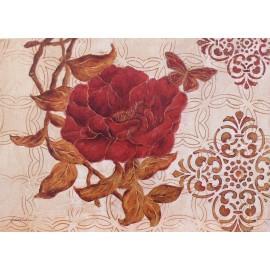 Carte d'art fleurs camelia mystique