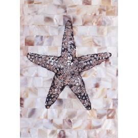 Carte d'art étoile de mer en mosaïque Regina-Andrew design