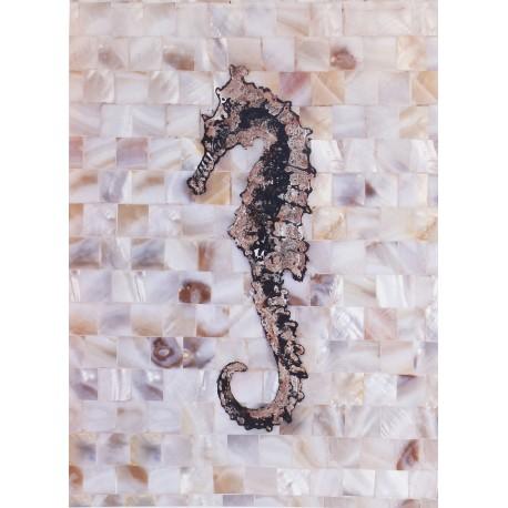 Carte d'art pearlized seahorse