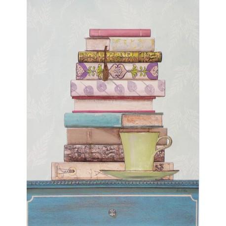 Carte d'art livre patterned library