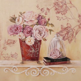 Carte d'art maison shabby chic fleur chintz and cloche Stephania Ferri