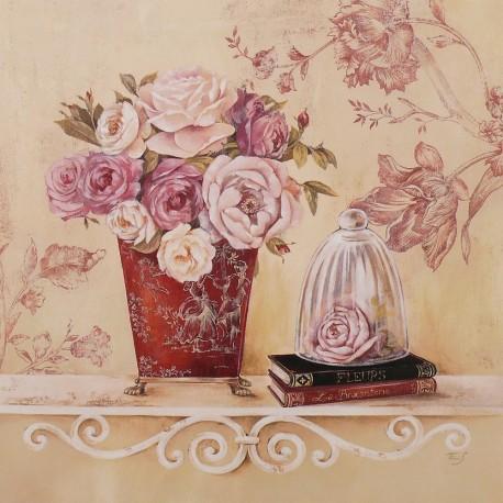 Carte d'art maison shabby chic fleur chintz and cloche Stephania Ferri