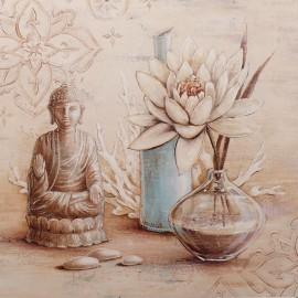 Carte d'art bouddha et lotus Angela Staehling