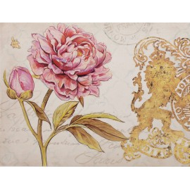 Carte d'art fleurs pivoine royal garden 1