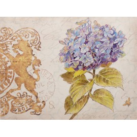Carte d'art fleurs hortensia royal garden 4