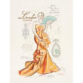 Carte d'art femme couture portfolio