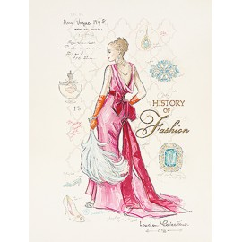 Carte d'art femme mode history fashion