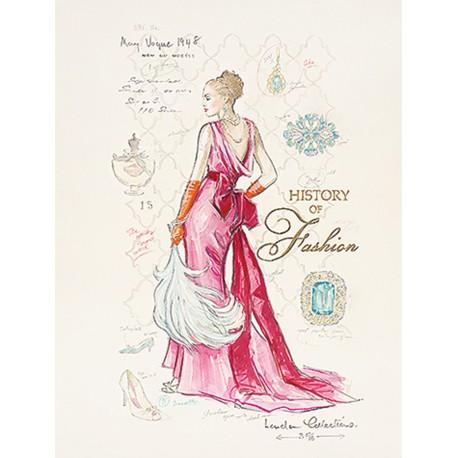 Carte d'art femme mode history fashion