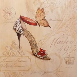 Carte d'art chaussure zebre stiletto Angela Staehling
