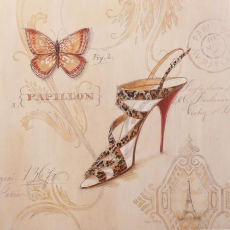 Carte d'art chaussures leopard sling stiletto