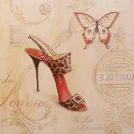Carte d'art chaussure sling back stiletto
