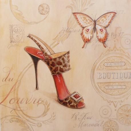 Carte d'art chaussure sling back stiletto