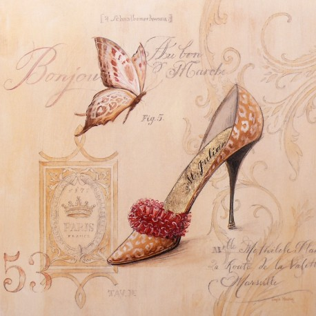 Carte d'art chaussure saint julian stiletto Angela Staehling
