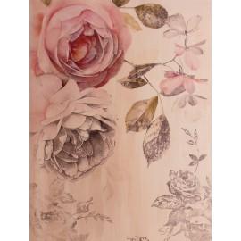 Carte d'art fleurs roses anciennes shabby chic roses 2