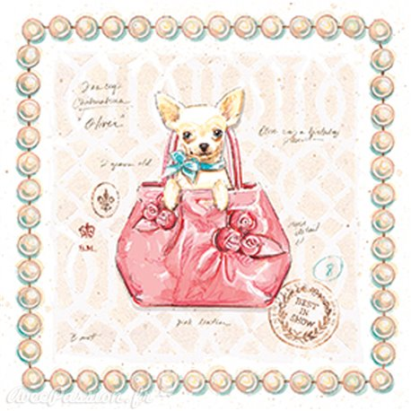 Carte d'art chihuahua puppy purse Chad Barrett