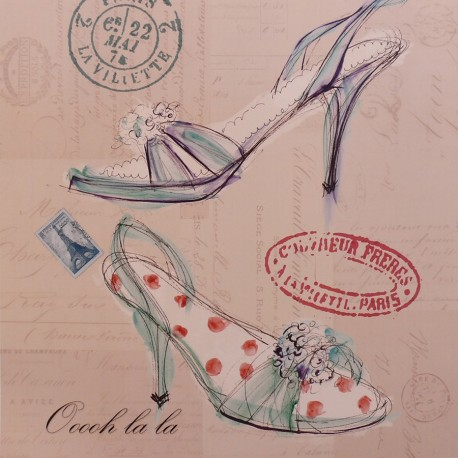 Carte d'art chaussure oh la la shoe
