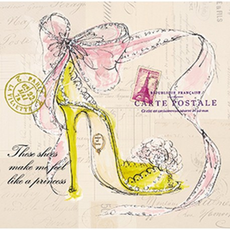 Carte d'art chaussure de princesse
