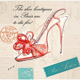 Carte d'art chaussure Paris shoe bow