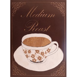 Carte d'art tasse de café medium roast