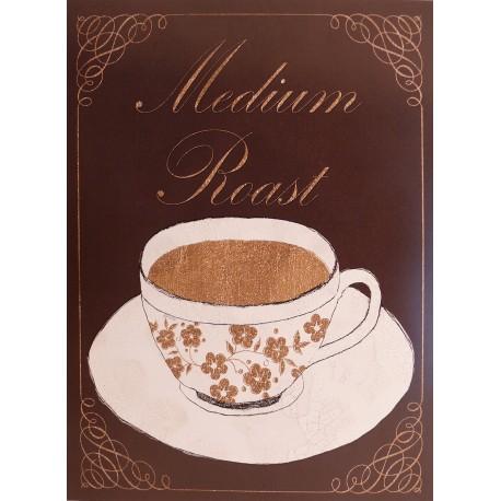 Carte d'art tasse de café medium roast
