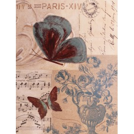 Carte d'art papillon paris flight