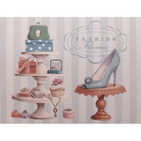 Carte d'art chaussure fashion flavours confectionnary