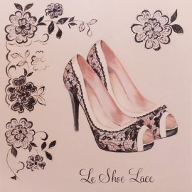 Carte d'art chaussures le shoe lace Marco Fabiano