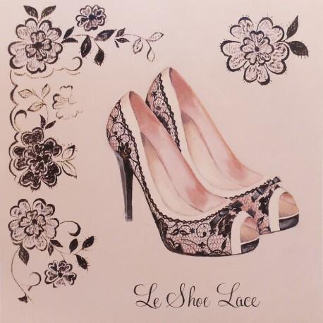 Carte d'art chaussures le shoe lace Marco Fabiano