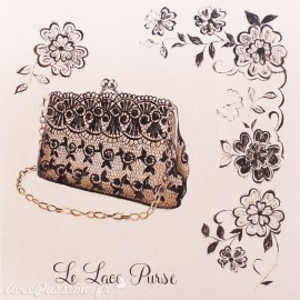 Carte d'art sac à main le lace purse Marco Fabiano