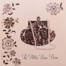 Carte d'art sac à main le petite lace purse Marco Fabiano