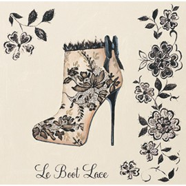 Carte d'art chaussure le boot lace Marco Fabiano