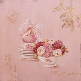 Carte d'art fleurs set for display Stephania Ferri