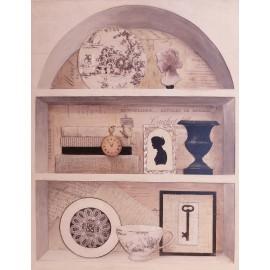 Carte d'art maison shabby chic histoire classique 2