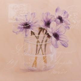 Carte d'art fleurs anémones
