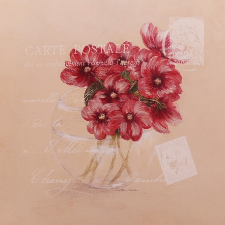 Carte d'art fleurs cosmos