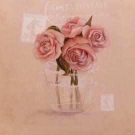 Carte d'art post & roses Melissa Pluch
