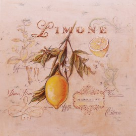 Carte d'art citron jaune tuscan lemon Angela Staehling