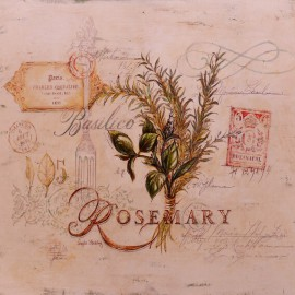 Carte d'art romarin tuscan herbs