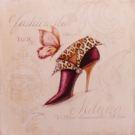 Carte d'art chaussures fashion boot