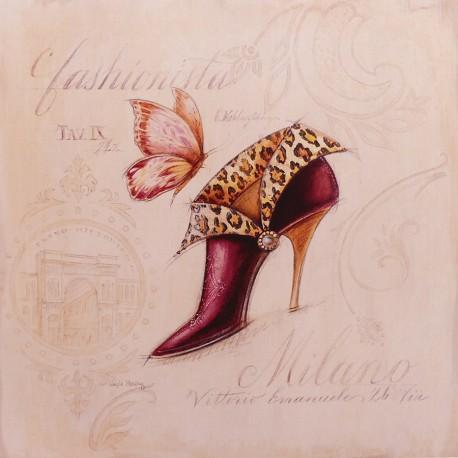 Carte d'art chaussures fashion boot