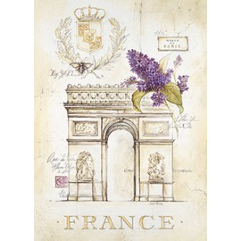 Carte d'art Paris arc de triomphe lilas