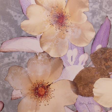 Carte d'art fleurs jewel box detail 1