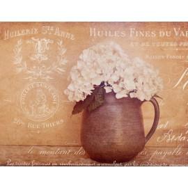 Carte d'art maison shabby chic fleurs hortensia bouquet 2