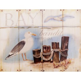 Carte d'art bay gull