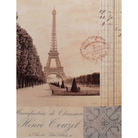 Carte d'art Paris Tour eiffel Marco Fabiano