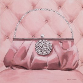 Carte d'art pin up pochette rose Marco Fabiano