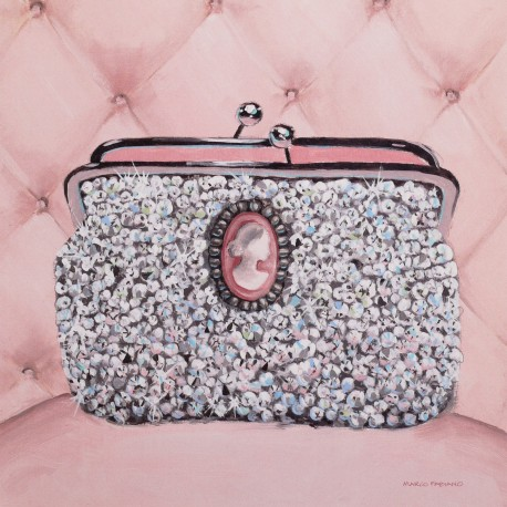 Carte d'art pin up pochette bling or not Marco Fabiano